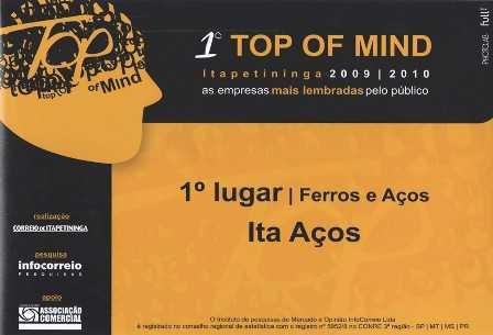 1º Prêmio Top of Mind