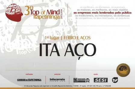 3º Prêmio Top of Mind